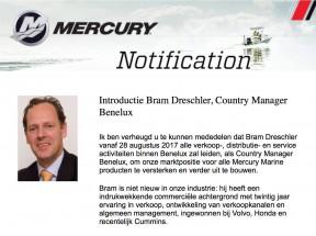 Introductie nieuwe Mercury Country Manager Benelux